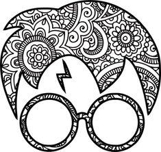 Disney Fantasy, Harry Potter Drawings, Harry Potter Diy, Anniversaire Harry Potter, Mandala Art Lesson, Paper Quilling Designs, Cricut Tutorials, Cricut Ideas, Monogram Decal