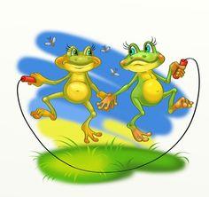 Просмотреть иллюстрациюНаталья Логванова - лягушки.