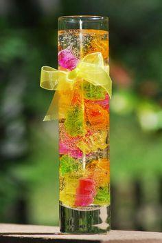 Gummy bear gel candle.