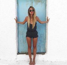 Pinterest @esib123  #fashion #style #inspo #outfit  polka dot romper