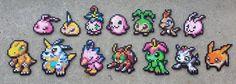 Partner Digimon  - Digimon Perler Bead Sprites by MaddogsCreations.deviantart.com on @DeviantArt