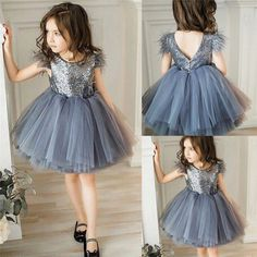 Toddler Baby Girl Princess Kid clothes round neck sleeveless Tassel Tulle Polyester backless Sequin Party Mini Dresses one piece - This is a great hit: Toddler Baby Girl. Girls Party Wear, Baby Girl Party Dresses, Little Girl Dresses, Baby Dress, Girls Dresses, Mini Dresses, Cheap Dresses, Dresses Dresses, Party Dresses For Kids
