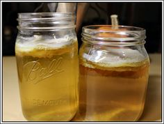 Jun tea is much like kombucha except with green tea, honey, and a jun scoby