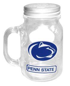 Penn State Nittany Lions 20oz Glass Mason Jar W/Lid