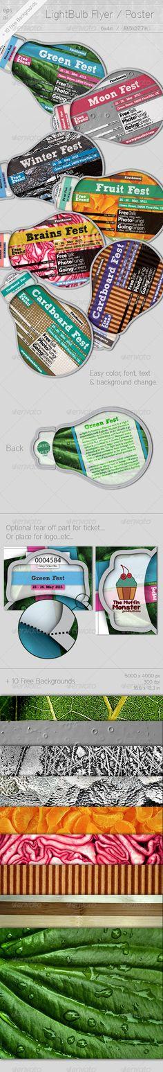 Light Bulb Flyer / Poster - GraphicRiver Item for Sale
