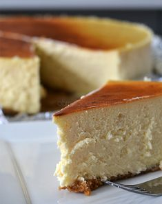 A foolproof recipe for the classic New York cheesecake. So good.