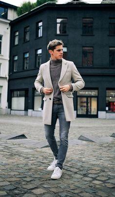 Gray tones for winter #winterfashion #mensfashion #mensaccessories