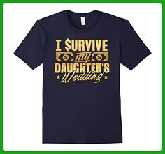 Mens Mother Of The Bride I Survived My Daughter's Wedding Tshirt Small Navy - Wedding shirts (*Amazon Partner-Link)