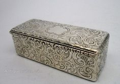 Antiques Atlas - Early Victorian Solid Silver Snuff Box 1845