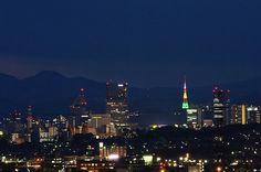 利府から見た仙台市街の夜景
