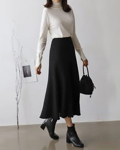 Wonderful Cost-Free Business Outfit korean Tips, - korean fashion Modest Fashion, Hijab Fashion, Fashion Outfits, Womens Fashion, Fashion Tips, Fashion Styles, Fashion Fall, Diy Fashion, Fashion Trends