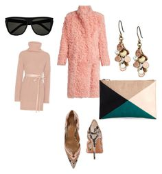 """""""Allinrosy"""" by violetta-gabriel on Polyvore featuring Preen, Aquazzura, Lucky Brand, Valentino, Sole Society and Yves Saint Laurent"""