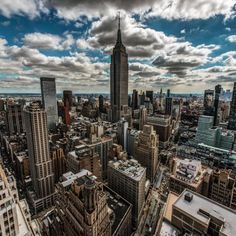 "newyorkcityfeelings: "" Perfect afternoon clouds in New York with @midnight.xpress @johnnyyonkers #nyc """