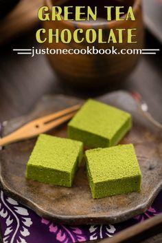 Green Tea Chocolate (抹茶生チョコレート) | Easy Japanese Recipes at JustOneCookbook.com