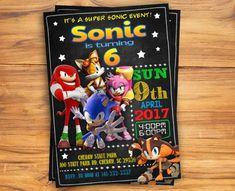 Invitación de Sonic Sonic personalizada invitación de