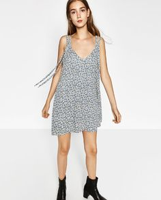 Image 2 of DOUBLE STRAP WRAP DRESS from Zara