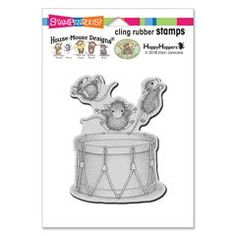 Cling Little Drummers Rubber S - This rubber stamp was recently purchased off from our web site. Click on the image to see more information. Calendar Pictures, Fun Group, House Mouse, Drummers, Note Cards, Design Projects, Cardmaking, Ecards, Christmas Cards