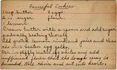 Fanciful Cookies ~ I <3 hand-written recipes written on index cards!!!  You KNOW it HAS TO BE a FANTASTIC RECIPE!  :)