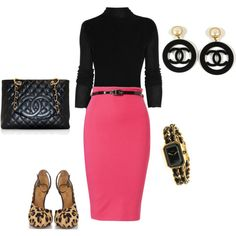 Black, Pink & Chanel, created by bonnaroosky on Polyvore