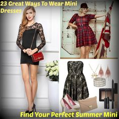 How To Wear Mini Dresses? 23 Great Ways To Wear Mini Dresses - http://www.2016hairstyleideas.com/beauty/how-to-wear-mini-dresses-23-great-ways-to-wear-mini-dresses.html