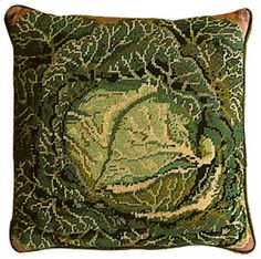 Cabbage, designed by Kaffe for Ehrman Tapestry - Love this vegetables range of needlepoint cushion covers - they're luscious!