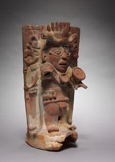 Incense Burner Support, 600-900 Mexico, Chiapas, Palenque Region, Maya, Classic period