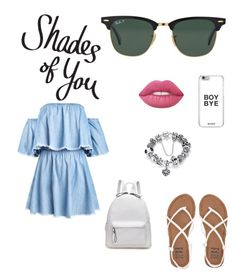 """Shades of You: Sunglass Hut Contest Entry"" by talmeillet on Polyvore featuring mode, Ray-Ban, Billabong, Lime Crime et shadesofyou"