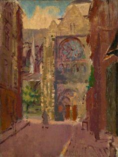Walter Sickert  - La Rue Pecquet, Dieppe