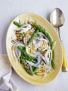 Asparagus & halloumi salad | Jamie Oliver