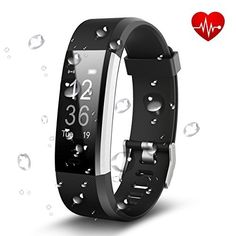 Antimi Fitness Tracker Heart Rate Monitor Activity Tracker Smart Bracelet Bluetooth Pedometer Smartwatch for iPhone X 8 8 Plus Samsung and Other Android or iOS Smartphones(Black) Fitness Tracker, Musik Player, Bluetooth, Wow Deals, Fitness Armband, Smart Bracelet, Heart Rate Monitor, Iphone, Android