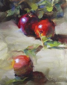 """Orchard Apples"" original fine art by Pamela Blaies"