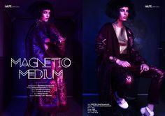"MAGNETIC MEDIUM webitorial for iMute Magazine Photographer / Dominika Jarczyńska Model / Justyna Koscinska @ SPECTO Stylist / Ewelina Drozdziuk Make up / Patryk Nadolny Hair / Edyta Kordzi Location / Studio ""Lift"" Warsaw"