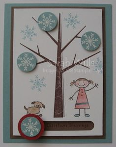Snowflakes Spinner Card