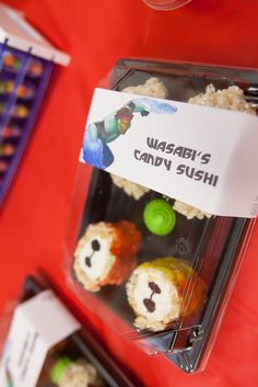 Big Hero 6 birthday party with candy sushi and activities