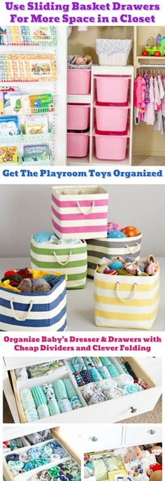 Great tips for organizing clutter and all the STUFF that comes with having kids