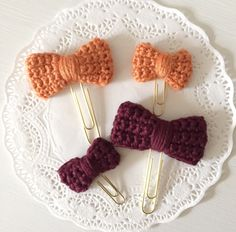 A personal favorite from my Etsy shop https://www.etsy.com/listing/461883130/new-fall-crochet-bow-planner-clips