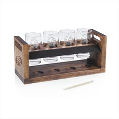 Perfect for the Beer Connoisseur,  The wooden tray can be custom engraved as…