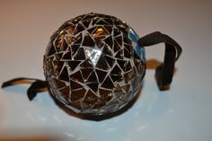 Bronze mosaic christmas ornament by PippesGlasmozaiek on Etsy, €18.00