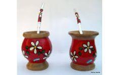 Resultado de imagen para mates pintados Decoupage Art, Painted Pots, Painting Patterns, Flower Decorations, Lily, Ceramics, Crafts, Collages, Ideas