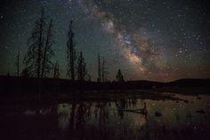 montana at night - star reflections