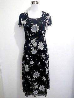 black floral maxi dress by VintageHomage on Etsy, $15.00