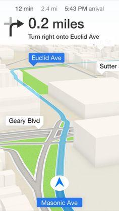 iOS 7 Maps, Calendar / Better then GoogleMaps?  Really?...