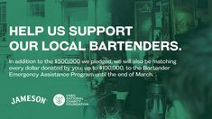 Charity Foundation, Jameson Irish Whiskey, Beer Opener, Giving Back, Guinness, Bartender, Location History, Twitter Sign Up, Good Things