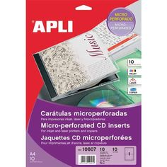 Comprar Etiquetas Caratula Cd- Dvd Acabado Mate Apli 10607 #multimedia #etiquetas #caratula #CD #DVD #acabado #mate