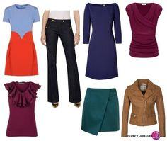 Postava typu hruška (A) - Vhodné odevy