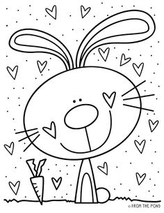Bunny Coloring Pages, Easter Colouring, Colouring Pages, Printable Coloring Pages, Coloring Pages For Kids, Coloring Books, Mandala Coloring, Coloring Sheets, Adult Coloring