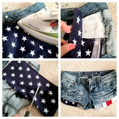 Morning  Fellow  Bloggers ,   Feeling Patriotic ?!? Hehe soooo I've really been meaning to create a pair of DIY distressed Ameri...