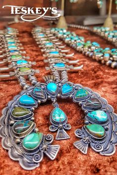 We can't get enough of this Turquoise Squash Blossom! IN LOVE!  Find it at Teskey's!   http://ss1.us/a/CJb58ANZ #TurquoiseTuesday #Teskeys