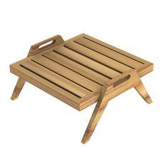 Table basse SYNTHESIS de Unopiu' Outdoor Furniture, Outdoor Decor, Stools, Sun Lounger, Ottoman, Home Decor, Furniture, Teak, Bass