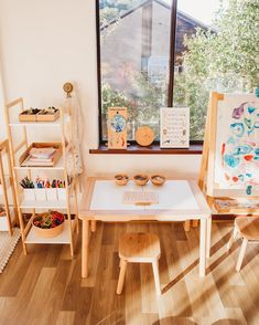 """The post """"Craft station set up this week appeared first on Pink Unicorn Playroom Playroom Design, Playroom Decor, Kids Decor, Montessori Toddler Rooms, Toddler Playroom, Waldorf Playroom, Ikea Kids Playroom, Montessori Bedroom, Trofast Ikea"""